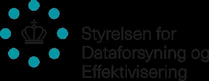 Styrelsen for Dataforsyning og Effektivisering logo